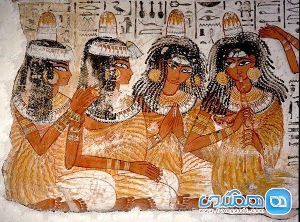 راز پنهان در کلاه های مخروطی سفید رنگ مصریان