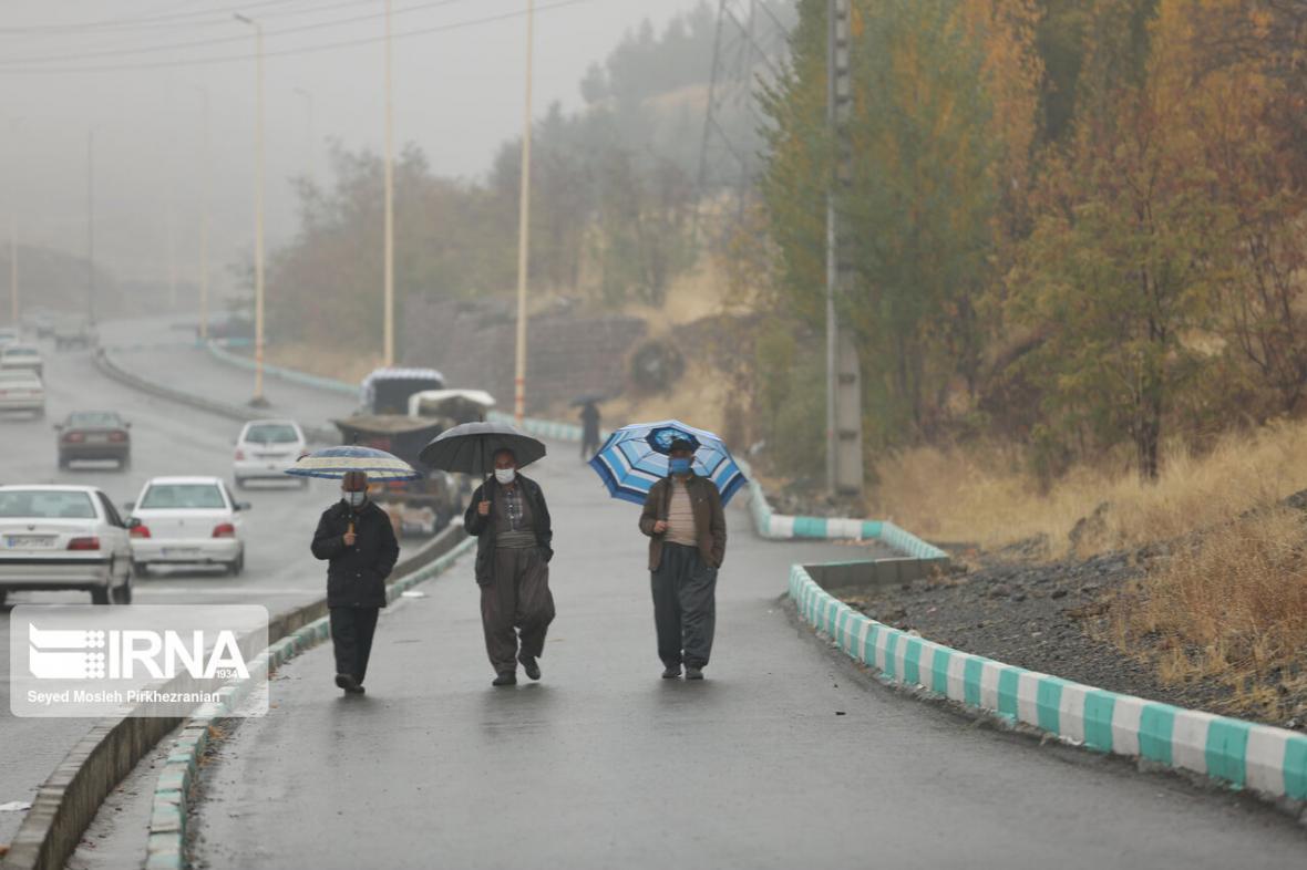 خبرنگاران بارش باران در مهاباد رکورد زد